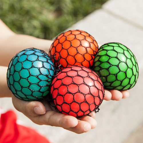 Mesh Squish Ball Stress Balls Squeeze Toy Birthday Party Favours mixed