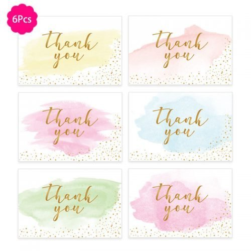 Thank You Cards with Envelopes Gift Cards 6-PACK Star Could